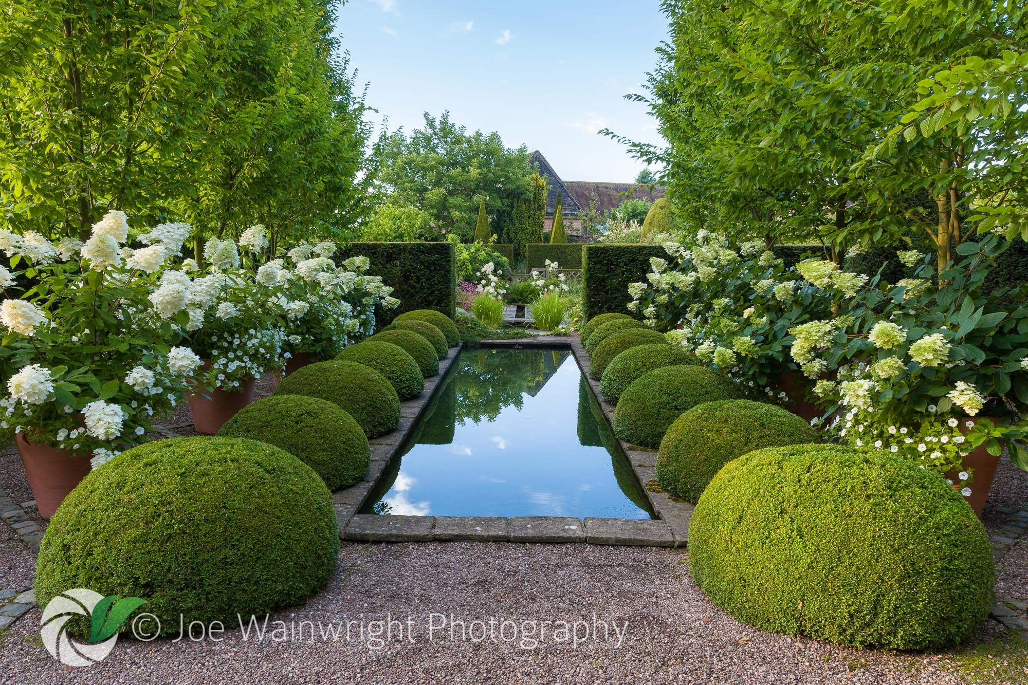 Wollerton_Old_Hall_Garden_-_The_Rill_Garden_and_Hydrangeas.jpg