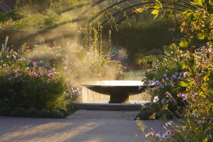 Misty Country Garden
