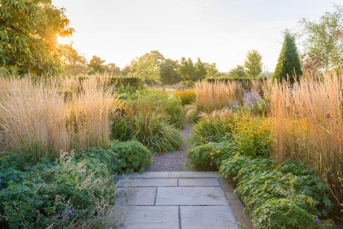 September Sunrise in a Scree Garden