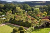 Crathes Castle garden in Autumn