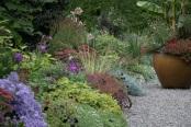Quad Borders in Autumn, Heronswood Gardens, Kingston WA USA
