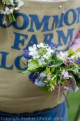 Hand tied posies by Common Farm Flowers