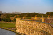 Beside the moat