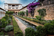Generalife gardens in Alhambra.