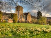 Little Malvern Church just after dawn