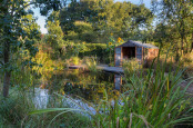 September Sunrise over the wildlife pond, Chapel Cottage