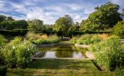 Pond vista at Doddington Place Gardens