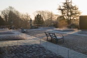 Kingston Maurward on a frosty morning