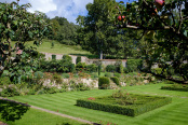 Parterre and walled garden in summer
