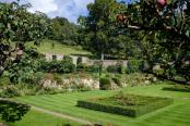 Parterre and walled garden in summer