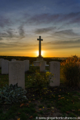 Sunrise over Shotley Royal Naval Cemetery