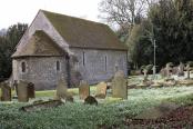 Swyncombe Church in a sea of snowdrops