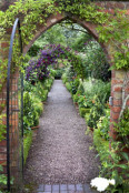 through the arch at Wollerton Old Hall